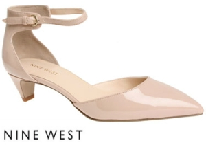 Nine West Falixy Taupe Patent Shoes